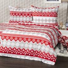 Najlacnejšie 4Home bavlna obliečky Red Nordic 140x200 70x90