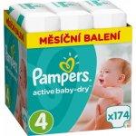 Najlacnejšie Pampers Active Baby 4 MAXI 8-14 kg 174 ks